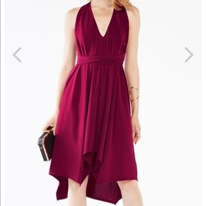 Red Dara Belted BCBG Dress